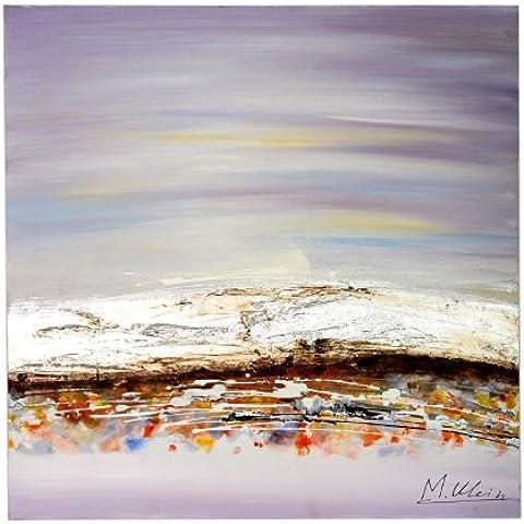 Paisaje dershogun - pinturas al óleo moderna con acrílico - firmado - Martin Klein - 80 x 80 cm