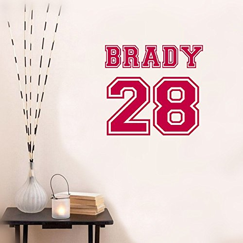 wandaufkleber 3d schlafzimmer Wall Sticker Inspirational Quotes Varsity Letter Name And Number Sports Boy Nursery Bedroom Decal -