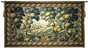 Tapisserie, Grand, Grand, élégant et Fine, français & murale Motif Verdure Audenarde B-H90xW158
