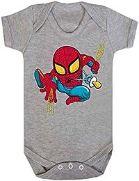 Bebé Spiderman bebé chaleco Babygrow Babywear uno piezas), Hero Comics superhéroe Novelty Babywear