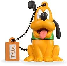 Tribe Disney Pluto Chiavetta USB da 8 GB Pendrive Memoria USB Flash Drive 2.0 Memory Stick, Idee Regalo Originali, Figurine 3D, Archiviazione Dati USB Gadget in PVC con Portachiavi - Arancio