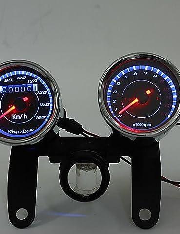 K-NVFA Motorcycle LED Digital Tachometer Oil Fuel Lever Gauge 12V waterproof KK-V-2746
