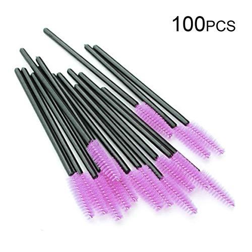 100pcs / lot brosses jetables extensions de cils applicateurs individuels mascara brosse kit d'outils de maquillage accessoires cosmétiques