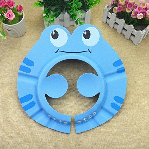 Neopren-klammer (Stillshine - Sichere Shampoo schützen Hut Karikatur Kinder einstellbare weiche baden Duschkappe Schutz ihre Augen & Gesicht (Blau(A)))