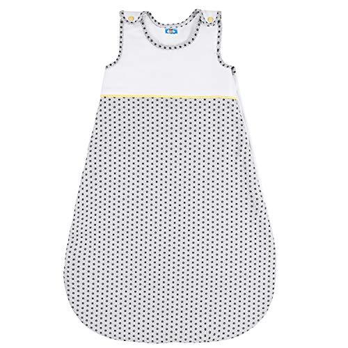 Babyschlafsack, Größe 90 (6-18 Monate), Biobaumwolle, Kuschelig und Garantiert Ohne Chemikalien, Schlafsack 100{ee7edb5cf58ab23fb7810c9117b591fbec015158e3ef16e2a94e4a59d2eb284a} Baumwolle - Reißverschluss mit Schutz - Unisex Baby Schlafsack mit Französischem Design