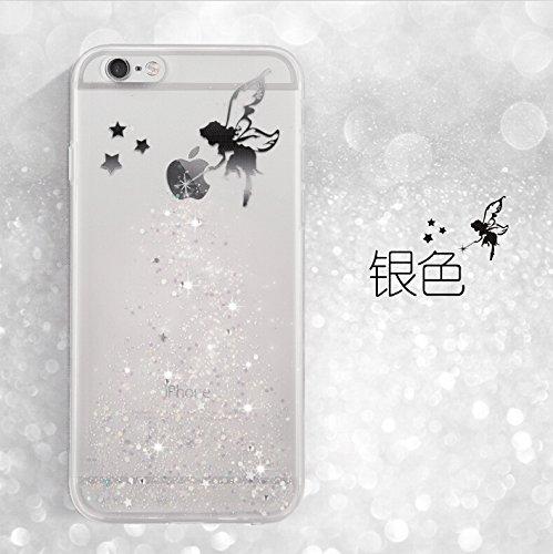 Sunroyal® Coque iPhone 6s Transparent Beau Fairy Fée Bling Diamant TPU Soft Crystal Clear Etui Housse Premium Ultra Mince Strass Case Cover de Protection Bumper pour Apple iPhone 6 / iPhone 6S (4.7 Po Fée-03