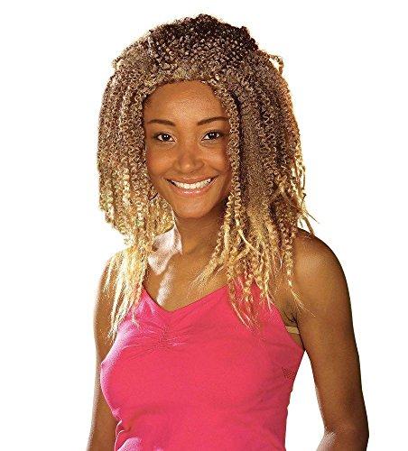 Zöpfe Kostüm Blonde (Widmann R0942 - Afro-Perücke blond Natural)