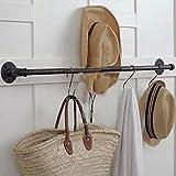 KXBYMX Racks Vintage Plumbing Bekleidungsgeschäft Wandtuch American Wand Kleiderbügel Industrie Display Handtuchhalter Lagerregal (größe : 80cm)