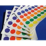 350 STICKY COLOURED DOTS 13mm LABELS DOTS ROUND CIRCLES SELF ADHESIVE ASSORTED COLOURS