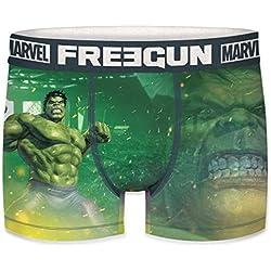 FREEGUN Bóxer para Hombre Marvel Avengers Hulk (M, Hulk )