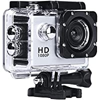Sport Camera, Rcool Mini 1080P Full HD DV Digital Sport Recorder Waterproof Action Camera Camcorder with Mounting Accessories Kits for Bike Motorcycle Surfing Diving Swimming Skiing etc (Slive)