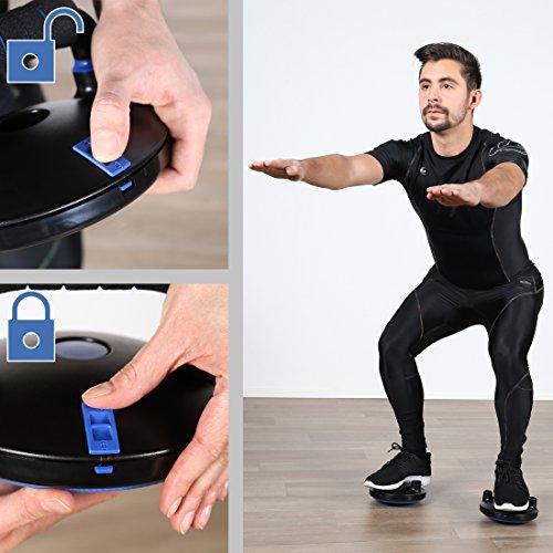 Ultrasport Liegestützgriffe Mit Rotationsfunktion zur Entlastung der Handgelenke, 2er-Set, Schwarz/Blau, OS, 331100000319 - 6