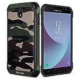 Epxee Samgung Galaxy J7 2017 Hülle, Premium Outdoor Stoßfest Schutzhülle Silikon TPU Bumper Case Handyhülle für Samsung Galaxy J7 (2017) Duos Case - Camouflage