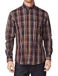 Henri Lloyd Carrick Classic Shirt Tan Long sleeved Large