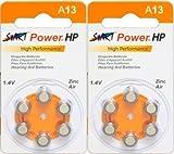 StartPower - Juego de 12 pilas para prótesis auditivas (tipo A13, 1,4 V, 280 mAh)