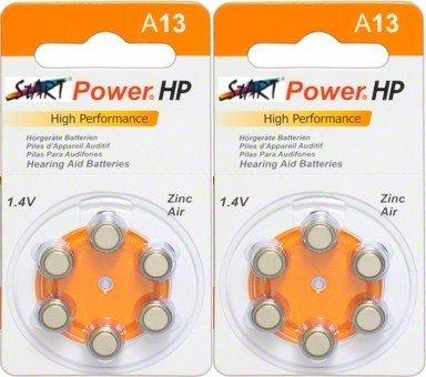 StartPower - 12 Batterien für Hörgeräte - Typ A13 - 1.4V - 280mAh - PR48