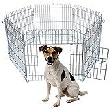 EUGAD Welpenauslauf Welpenzaun Freigehege Welpengitter Laufgitter Laufstall Hunde aus 6
