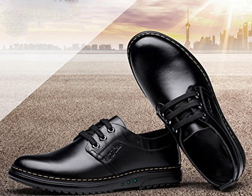 WZG affaires chaussures de sport Les nouveaux hommes version coréenne de chaussures pour hommes britannique, chaussures en cuir plates 9 Black