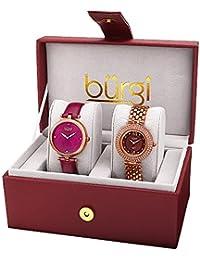 Burgi Set de 2 relojes Women'S Watch Gift Set