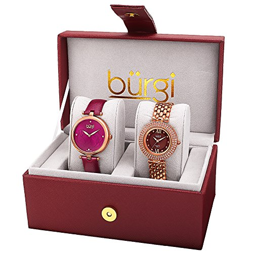 Burgi Women'S Watch Gift Set di 2 Orologi da Donna