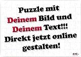 Personalisiertes Puzzle ~ mit DEINEM Bild und DEINEM Text jetzt online gestalten ~ 120 Teile 27x18cm, eckig, inkl. Geschenk-Beutel ~ WB wohn trends®