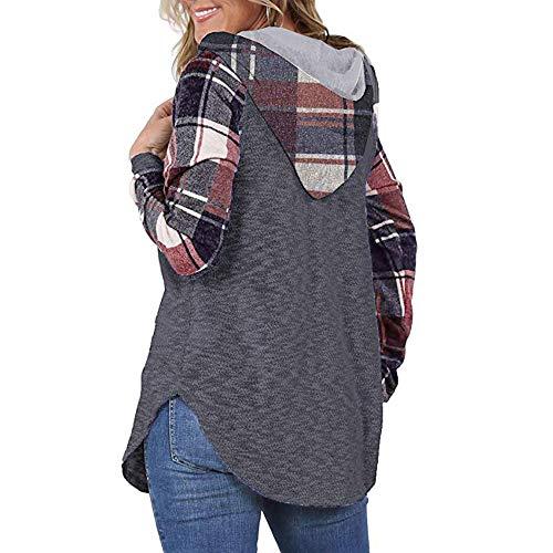 COOKDATE Damen Kapuzenpullover Shawn Mendes gedruckt Hoodie Langarm Sweatshirt mit Kapuze 17182Dunkelgrau Pink -