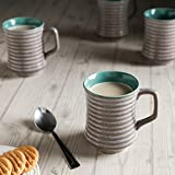 Unravel India Studio Ceramic Coffee Cups Set(Set Of 6)