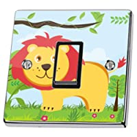Jungle Lion Light Switch Sticker skin decal cover