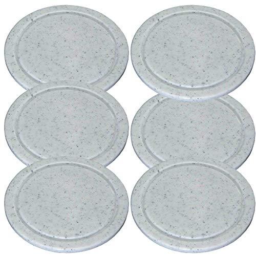 SIDCO Schneidebrett Frühstücksbrett 6 Stück Fleischteller m. Saftrille 24 cm rund