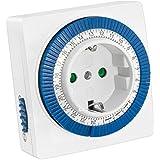 mumbi mechanische 3500W Zeitschaltuhr - 96 Schaltsegmente - Schaltknopf für Ein/Auto-Funktion - einfache Bedienung - GS-geprüft
