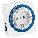 mumbi 23569-Zeitschaltuhr mechanische Zeitschaltuhr 3500W-96 Schaltsegmente-Schaltknopf für EIN/Auto-Funktion-einfache Bedienung