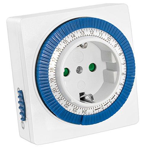 ltuhr mechanische Zeitschaltuhr 3500W-96 Schaltsegmente-Schaltknopf für EIN/Auto-Funktion-einfache Bedienung ()