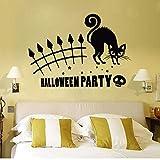 yaoxingfu Animaux Nouveautés Arrivées Halloween Party Cat Peinture Murale Amovible Sticker Art Vinyle Decal Home Room Decor Chat Autocollants Murale ww-1 70X40cm...