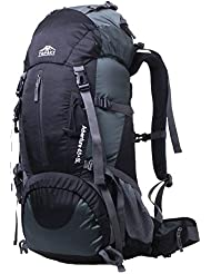 Topsky - Mochila profesional impermeable, grande, 40, 50 y 60 L, para deportes al aire libre, acampada, senderismo y montañismo, color negro, tamaño 50 L, volumen liters 60.0