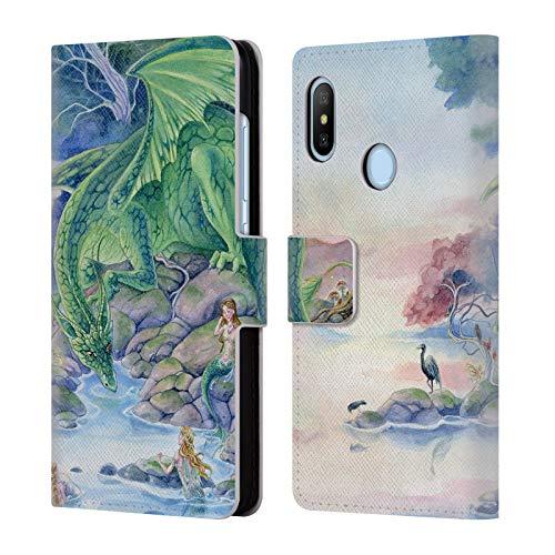 (Head Case Designs Offizielle Meredith Dillman Luft Und Meer Fantasy Brieftasche Handyhülle aus Leder für Xiaomi Mi A2 Lite/Redmi 6 Pro)