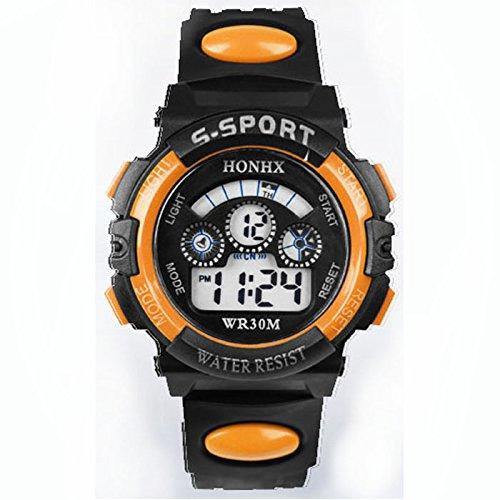 Kycut Buy Kinder Armbanduhr Wasserdicht Kinder Jungen Digital LED Quarz Alarm Datum Sport ()