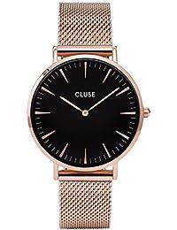 Cluse - CL18113 - Analogique avec Bracelet en Acier Inoxydable Plaqué - Montre - Femme - Doré (Rose Gold)