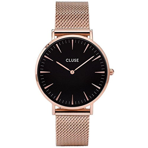 Cluse Damen Armbanduhr Analog Quarz Edelstahl CL18113,  Gold (Rose Gold)