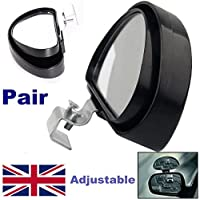 Generic uk150608 – 10 < 1 & 3368 * 1 > ustabler Re di traino retromarcia 2 Van grandangolare Blind Spot Blindspot MIRROR TRAINO guida regolabile 2 Van