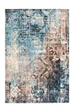 Tapis Ethno tapis vintage maya Inca aztèque conception tapis brosse Beige Bleu...