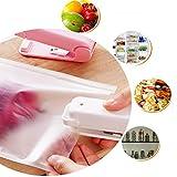Gaddrt Portable Sealing Tool Heat Mini Handheld Plastic Bag Impluse Sealer Closer White