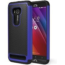 ASUS Zenfone 2 Laser Funda - MoKo [Anti Drop] Hard Polycarbonate + Silicone Protector Bumper Cover for ASUS Zenfone 2 Laser (ZE550KL / ZE551KL) 5.5 Inch Smartphone 2015 Release, Azul Oscuro