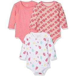 Care Body para Bebés Badus pack de 3 Multicolor (Camellia Rose) 0 - 3 meses (Talla del fabricante: 56)