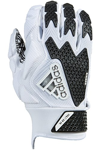 adidas Freak 3.0 American Football Leicht Gepolsterte Handschuhe - Weiß/Schwarz Gr. L