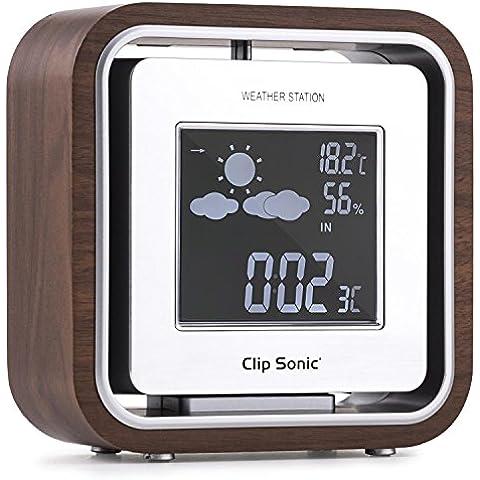 Clip Sonic SL238 Estación meteorológica Temperatura Humedad Reloj Retro