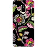 MADANYU Handdrawn Floral Printed Floral Pattern Designer Printed Hard Back Shell Case For Samsung A7 2018