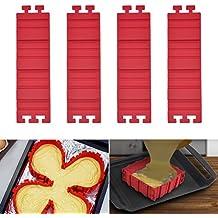 Browill Kreativ Silikon Form DIY Fondant Kuchen Backform Formen Backen Zubehör [4 Stück] DIY eine Vielzahl von Formen