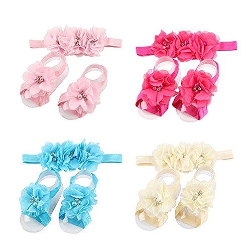 Magicmoon® Turbante Nodo Cerchietti Copricapo Fascia Testa Capelli Wrap Wear Fasce per Blulu Bambine Bimbe Neonato (F)