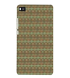 PrintVisa Designer Back Case Cover for Huawei P8 (Girly Pattern Tribal Floral Fabric Culture Rajastan Andhra)