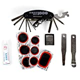 Styletec Fahrrad Reparaturset/Multifunktionalwerkzeug + Flickzeug inkl. Tasche + Kleber